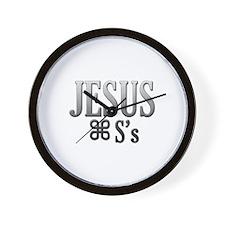 Jesus Saves -  Wall Clock