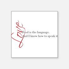 Food - the language of love. Sticker