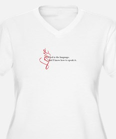 Food - the language of love. Plus Size T-Shirt