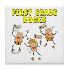 First Grade Rocks Tile Coaster