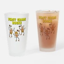 First Grade Rocks Drinking Glass