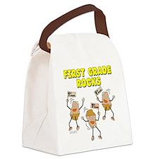 First Grade Rocks Canvas Lunch Bag