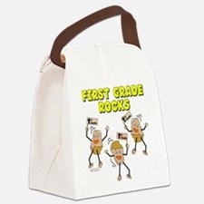 First Grade Rocks Canvas Lunch Bag
