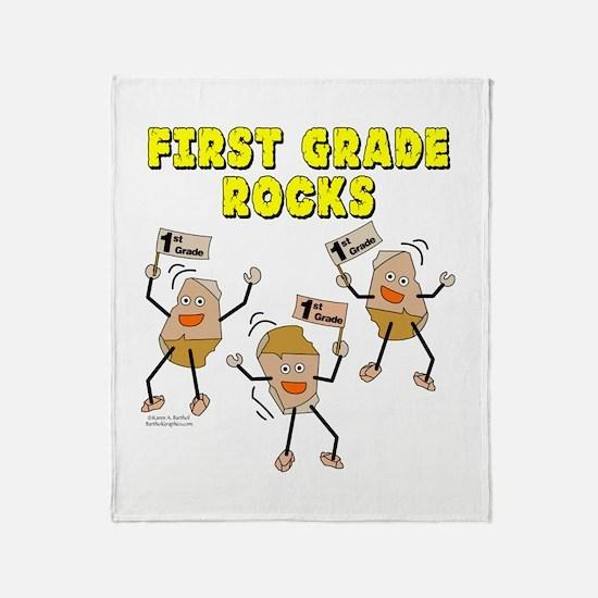 First Grade Rocks Throw Blanket
