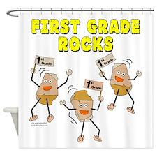 First Grade Rocks Shower Curtain