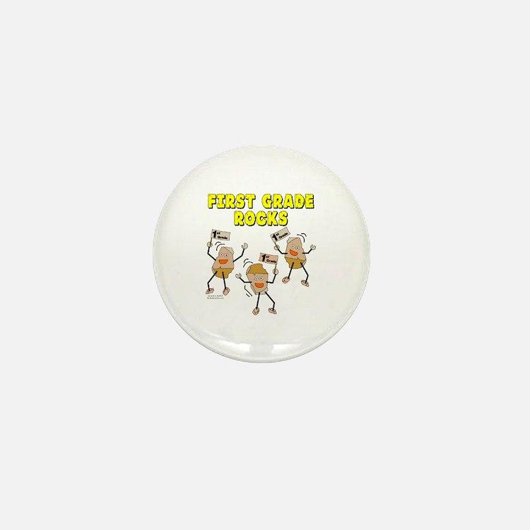 First Grade Rocks Mini Button