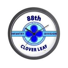 88th Infantry Division Clover Leaf Wall Clock