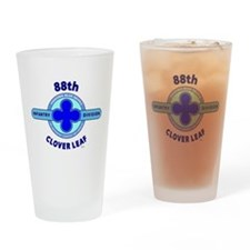 88th Infantry Division Clover Leaf Drinking Glass