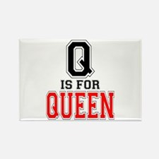 Q is for Queen Rectangle Magnet