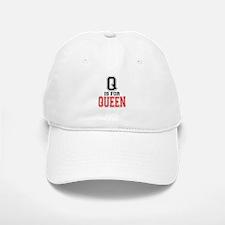 Q is for Queen Baseball Baseball Cap