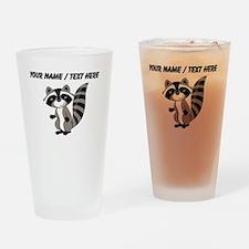 Custom Cartton Raccoon Drinking Glass
