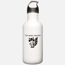 Custom Cartton Raccoon Water Bottle