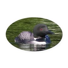 Lone Loon Oval Car Magnet