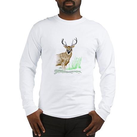 Deer with Antlers Long Sleeve T-Shirt