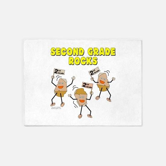 Second Grade Rocks 5'x7'Area Rug