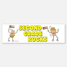 Second Grade Rocks Bumper Bumper Sticker