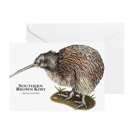 Southern Brown Kiwi Greeting Card