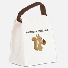 Custom Cartoon Squirrel Canvas Lunch Bag