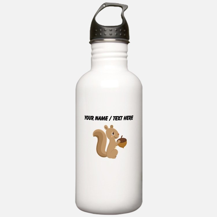 Custom Cartoon Squirrel Water Bottle