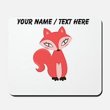 Custom Cartoon Red Fox Mousepad