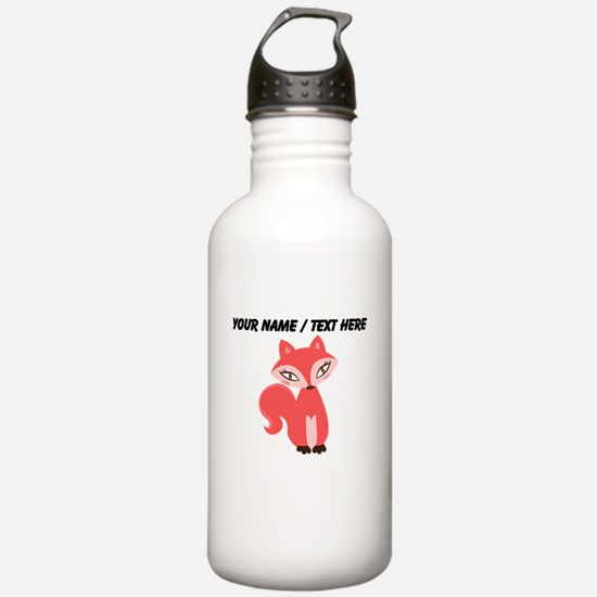 Custom Cartoon Red Fox Water Bottle