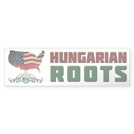 American Hungarian Roots Bumper Sticker