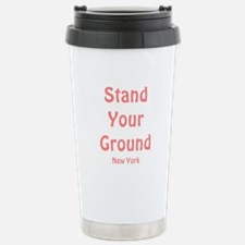 Stand Your Ground (pink) Stainless Steel Travel Mu