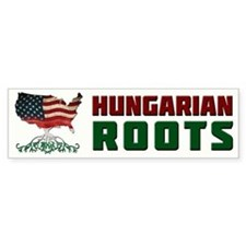 American Hungarian Roots Bumper Bumper Sticker