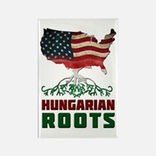 American Hungarian Roots Rectangle Magnet