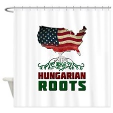 American Hungarian Roots Shower Curtain