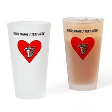 Custom Raccoon Heart Drinking Glass