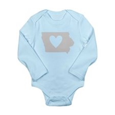 Heart Iowa Long Sleeve Infant Bodysuit