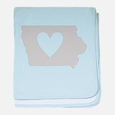 Heart Iowa baby blanket
