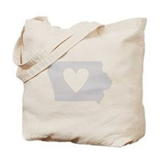 Heart Iowa Tote Bag