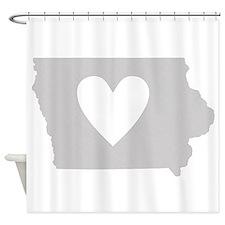 Heart Iowa Shower Curtain