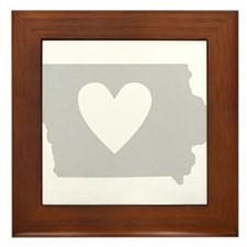 Heart Iowa Framed Tile