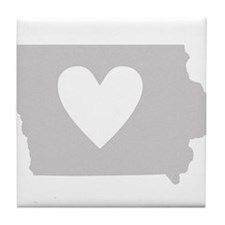 Heart Iowa Tile Coaster