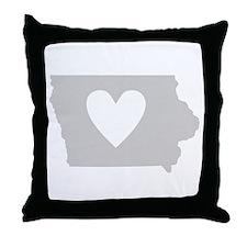 Heart Iowa Throw Pillow