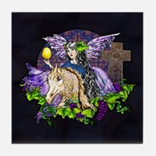 Gothic Cross And Fairy Eve Tile Coaster