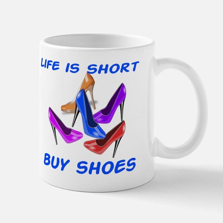 Shopping Girl Coffee Mugs Shopping Girl Travel Mugs