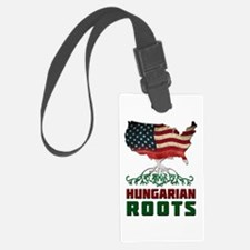 American Hungarian Roots Luggage Tag