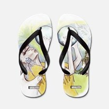 Native American Prayer Dove Flip Flops