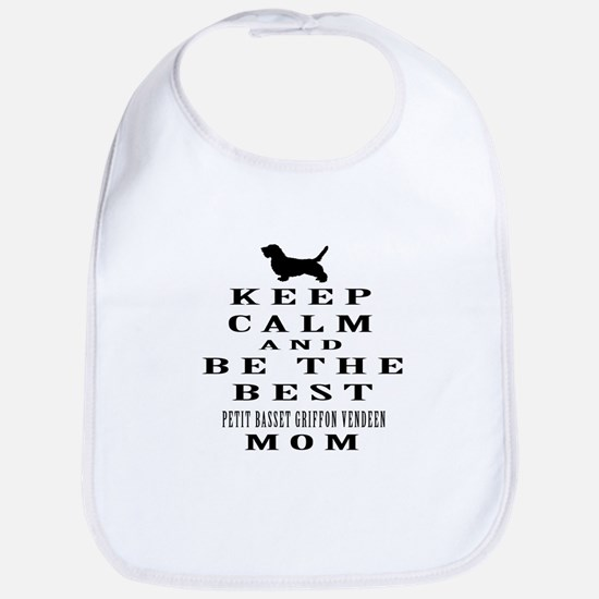 Keep Calm Petit Basset Griffon Vendeen Designs Bib