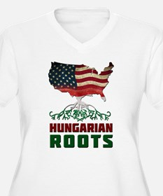 American Hungarian Roots Plus Size T-Shirt