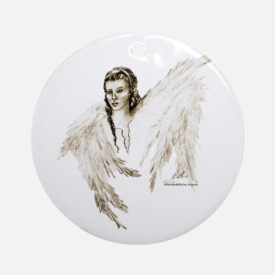Guardian Angel Ornament (Round)