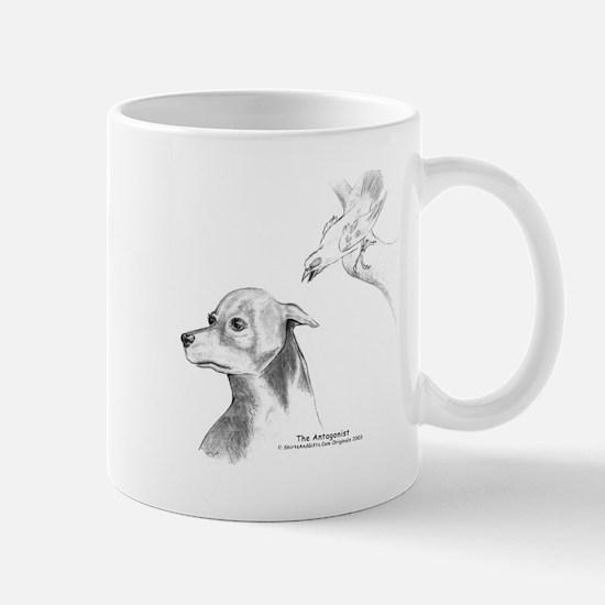 Paranoid Doberman Mug