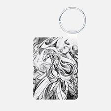 Winged Horse Fantasy Art Keychains