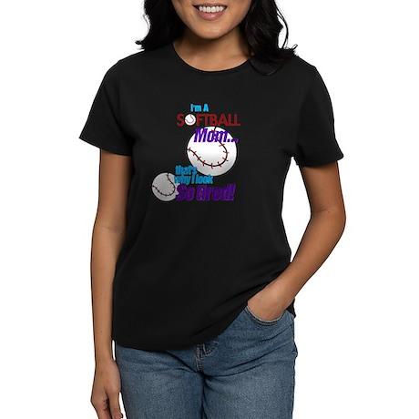 Softball Mom Women's Dark T-Shirt