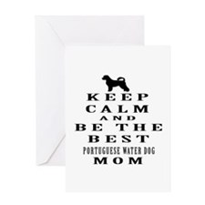 Keep Calm Portuguese Water Dog Designs Greeting Ca