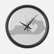 Heart Kentucky Large Wall Clock